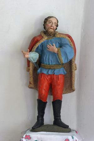 christian altar: Statue of saint
