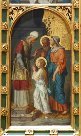 bible altar: The Presentation of the Virgin Mary