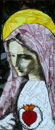 Immaculate Heart of Mary Standard-Bild