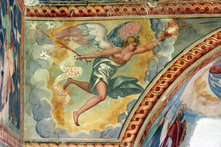 gabriel: Archangel Gabriel, Fresco paintings in the old church