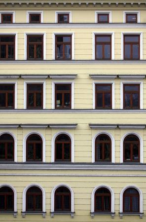 functionalism: Prague facade Stock Photo