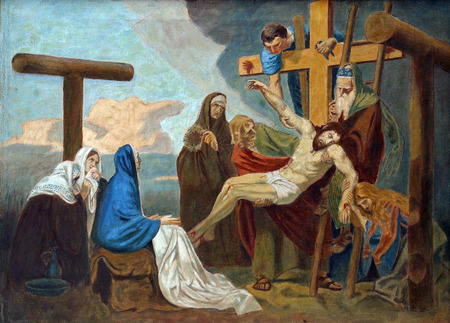 dolorosa: 13th Stations of the Cross, Jesus body is removed from the cross