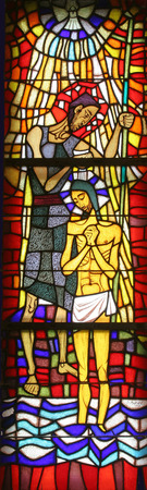 Baptism of the Lord, Stained glass