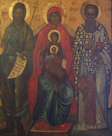 paternal: St. John the Baptist, st. Ann, st. Joachim and Madonna with Child Jesus