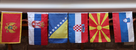 former yugoslavia: Flags of countries of the former Yugoslavia