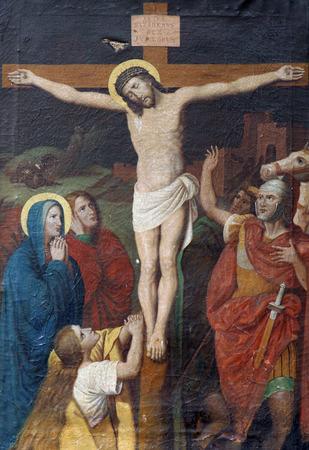 Stations 12e de la Croix, Jésus meurt sur la croix Banque d'images - 35626357