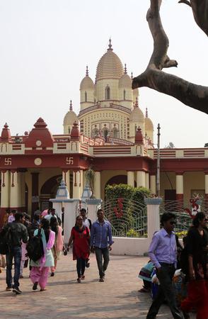 kali: Hindu temple Dakshineswar Kali Temple. Kali temple was built in nine spires style of Bengal architecture, in 1855.
