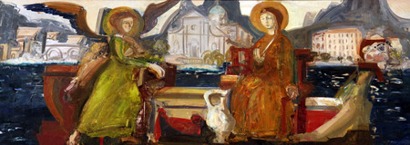 annunciation: Annunciation of the Virgin Mary, the Catholic Church of the Birth of the Virgin Mary, on June 08, 2012, in Prcanj, Montenegro
