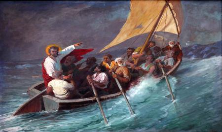 예수님은 바다의 폭풍을 진정시키고, Prcanj, 몬테네그로 년 6 월 08, 2012 성모 마리아의 출생의 가톨릭 교회, 에디토리얼
