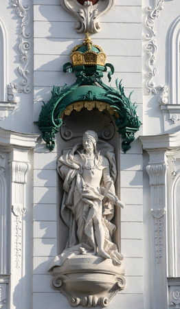 frederick street: King Frederick III sculpture at Wustenrot Building in Vienna, Austria