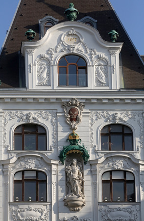 King Frederick III sculpture at Wustenrot Building in Vienna, Austria