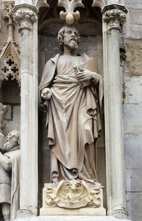 Luke: Saint Luke the Evangelist at St Stephans Cathedral in Vienna, Austria on October 10, 2014