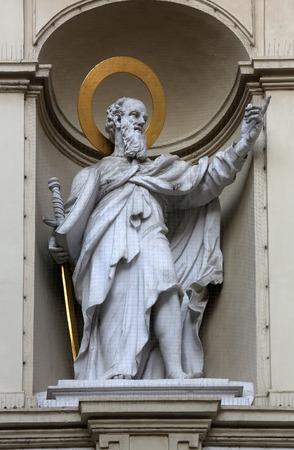 apostle paul: St. Paul the Apostle, Church of Saint Peter in Vienna, Austria on October 10, 2014. Editorial