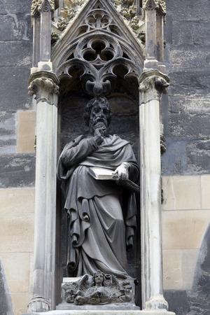 Saint Matthew the Evangelist at St Stephens Cathedral in Vienna, Austria on October 10, 2014