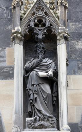saint stephen cathedral: Saint Matthew the Evangelist at St Stephens Cathedral in Vienna, Austria on October 10, 2014