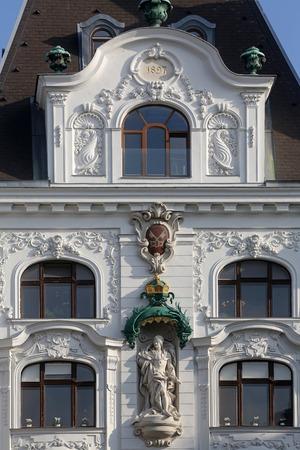 frederick street: King Frederick III, Regensburger Hof, Wustenrot Building in Vienna, Austria on October 10, 2014.