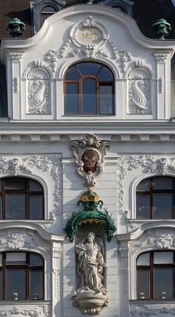 frederick street: King Frederick III, Regensburger Hof, Wustenrot Building in Vienna, Austria
