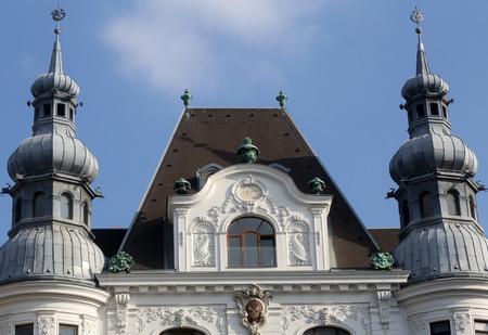 frederick street: Regensburger Hof, Wustenrot Building in Vienna, Austria on October 10, 2014.