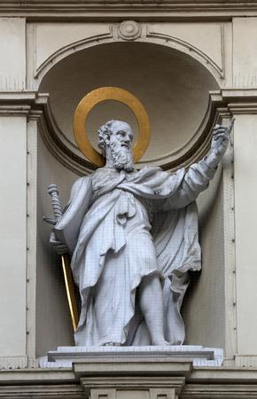 apostle: St. Paul the Apostle, Church of Saint Peter in Vienna, Austria on October 10, 2014. Editorial