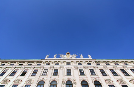 habsburg: Architectural decorations on Hofburg palace, Vienna; Austria. Hofburg was residence of Habsburg dynasty, rulers of Austro-Hungarian Empire. Vienna, Austria on October 10, 2014.