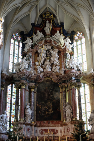 giles: Altar in Graz Cathedral dedicated to Saint Giles in Graz, Styria, Austria on January 10, 2015.
