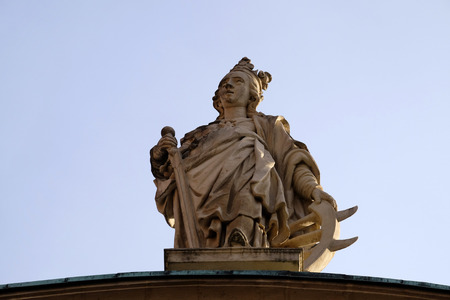 steiermark: Saint Catherine of Alexandria, St. Catherine church and Mausoleum of Ferdinand II, Graz, Austria on January 10, 2015.