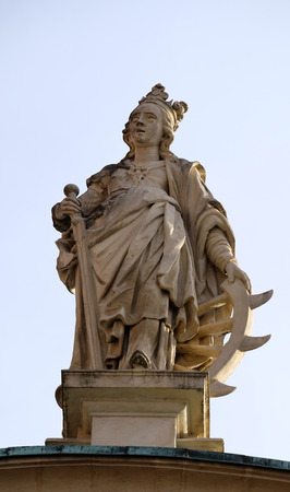ferdinand: Saint Catherine of Alexandria, St. Catherine church and Mausoleum of Ferdinand II, Graz, Austria on January 10, 2015.
