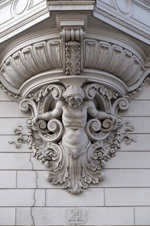 steiermark: House decoration in the old part of the city of Graz in Austria on January 10, 2015.