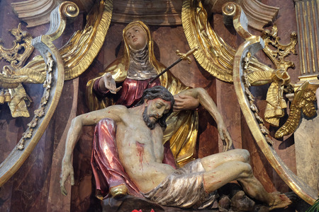 our lady of sorrows: Our Lady of Sorrows, Franciscan Church in Graz, Styria, Austria on January 10, 2015.