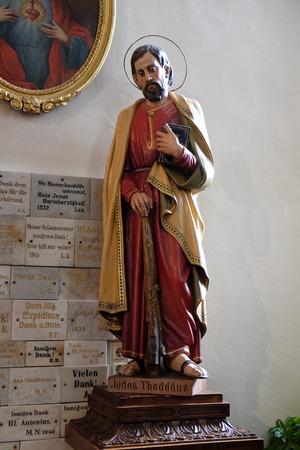 apostle: Saint Jude the Apostle, Franciscan Church in Graz, Styria, Austria on January 10, 2015.