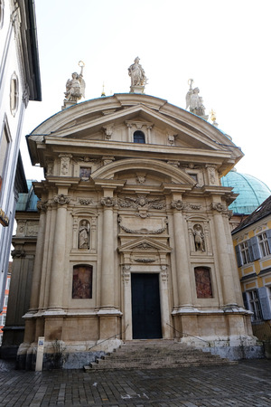 mausoleum: St. Catherine church and Mausoleum of Ferdinand II, Graz, Austria on January 10, 2015.