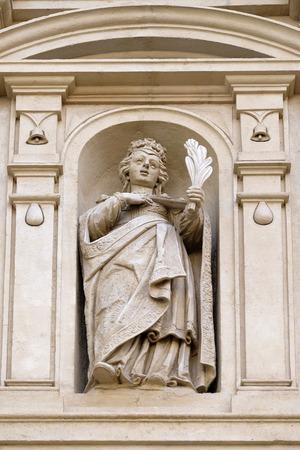 ferdinand: St. Catherine, St. Catherine church and Mausoleum of Ferdinand II, Graz, Austria on January 10, 2015. Editorial