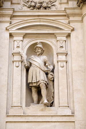 ferdinand: Ferdinand II, St. Catherine church and Mausoleum of Ferdinand II, Graz, Austria on January 10, 2015.