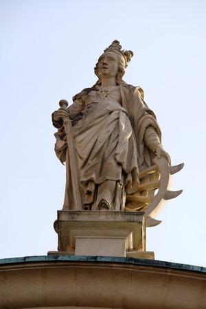 ferdinand: Saint Catherine of Alexandria, St. Catherines church and Mausoleum of Ferdinand II, Graz, Austria on January 10, 2015.