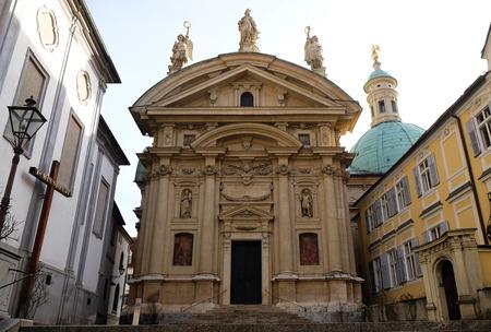 steiermark: St. Catherine church and Mausoleum of Ferdinand II, Graz, Austria on January 10, 2015.