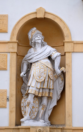 steiermark: Mars, Roman god of war, Arsenal (Zeughaus) historic center listed as World Heritage by UNESCO in Graz, Styria, Austria on January 10, 2015.