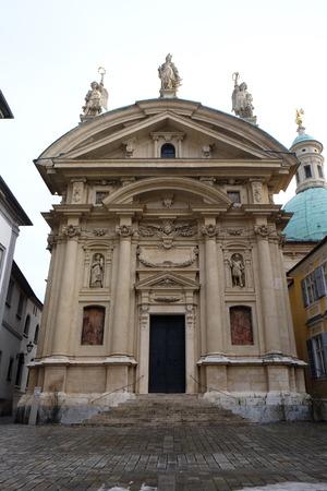 ferdinand: St. Catherine church and Mausoleum of Ferdinand II, Graz, Austria on January 10, 2015.