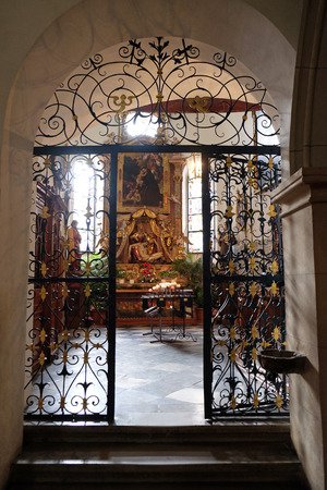 our lady of sorrows: Altar of Our Lady of Sorrows, Franciscan Church in Graz, Styria, Austria on January 10, 2015. Editorial