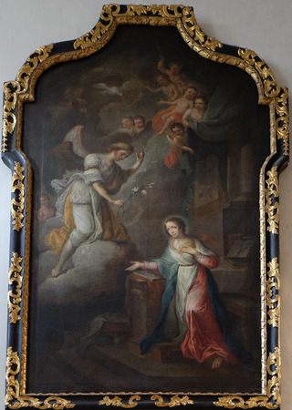 annunciation of mary: Annunciation of the Virgin Mary, Franciscan Church in Graz, Styria, Austria on January 10, 2015. Editorial