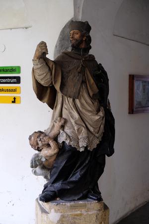 Saint John of Nepomuk, Mariahilf church in Graz, Styria, Austria on January 10, 2015.