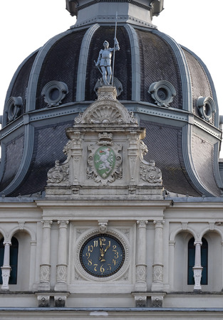 hauptplatz: Facade detail Rathaus Town Hall, Graz, Styria, Austria on January 10, 2015.