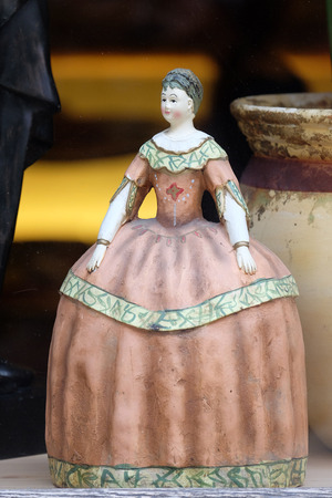 antique shop: Old vintage doll in antique shop, Graz, Styria, Austria on January 10, 2015.