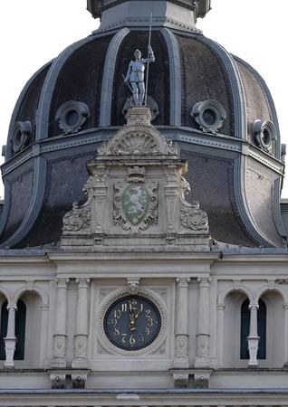 rathaus: Facade detail Rathaus Town Hall, Graz, Styria, Austria on January 10, 2015.