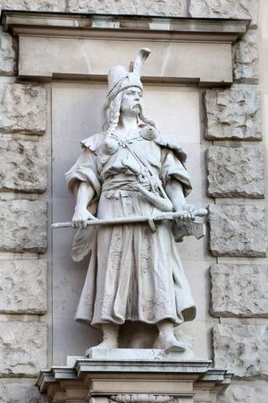 magyar: Rudolf Weyr: Magyar, on the facade of the Neuen Burg on Heldenplatz in Vienna, Austria on October 10, 2014.