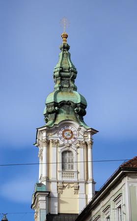 devotional: Parish Church of the Holy Blood in Graz, Styria, Austria on January 10, 2015. Stock Photo