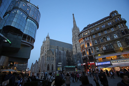 stephen: St. Stephen cathedral in center of Vienna, Austria on October 10, 2014 Editorial