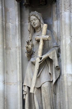 helena: Saint Helena of Constantinople facade of Minoriten kirche in Vienna, Austria on October 11, 2014.