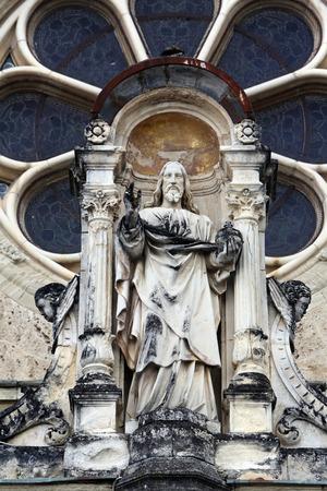 almighty: Jesus Christ Almighty, basilica Assumption of the Virgin Mary in Marija Bistrica, Croatia, on July 14, 2014