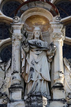 almighty: Jesus Christ Almighty basilica Assumption of the Virgin Mary in Marija Bistrica Croatia on October 26 2013