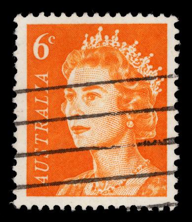 queen elizabeth ii: AUSTRALIA - CIRCA 1966: A stamp printed in Australia shows a portrait of Queen Elizabeth II, circa 1966.
